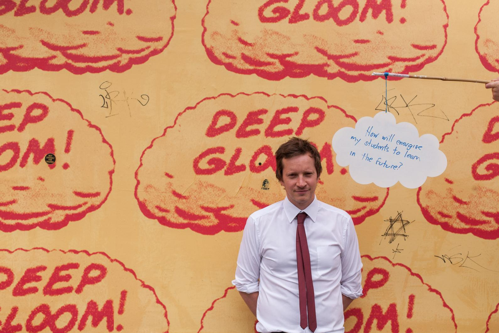 How will I energise my students to learn in the future? Sam Booth's Photobooth contribution. Photo: Tim Mitchell