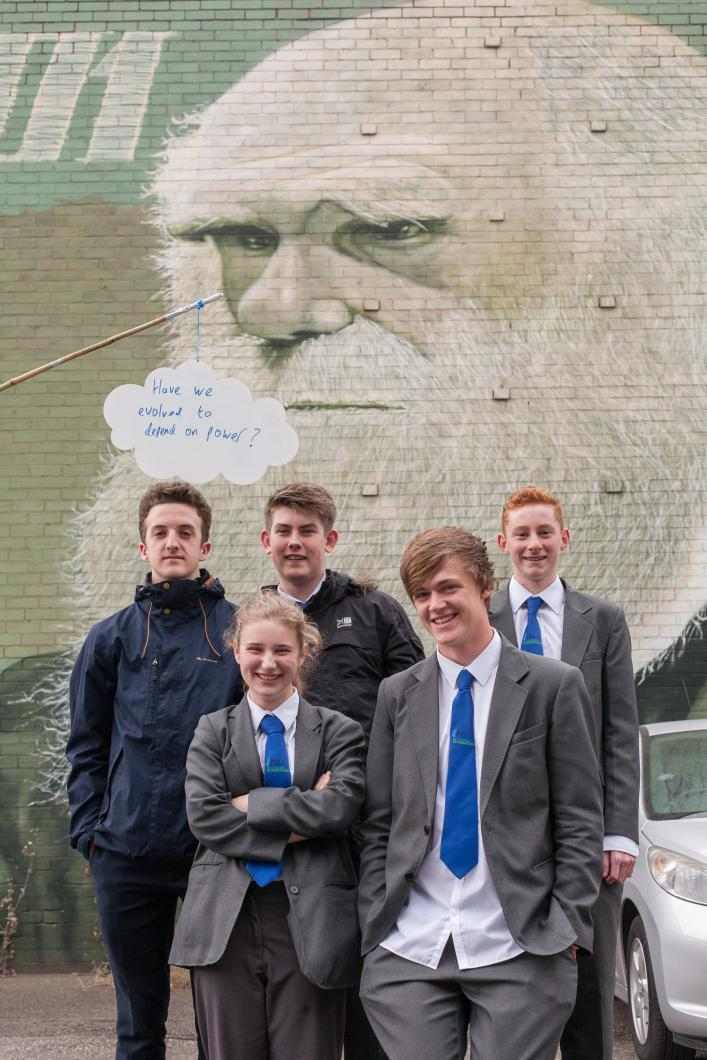 Photo: Tim Mitchell and Sheffield University Technical College Students.