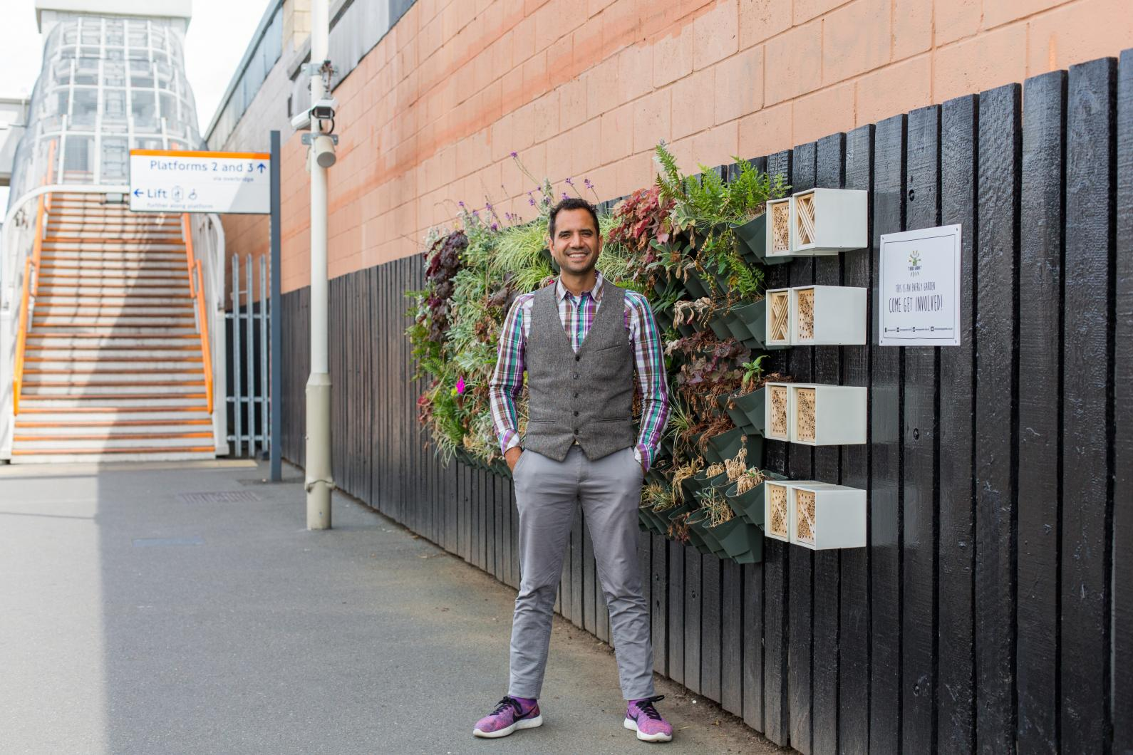 Agamenmon Otero visits an overground station energy garden