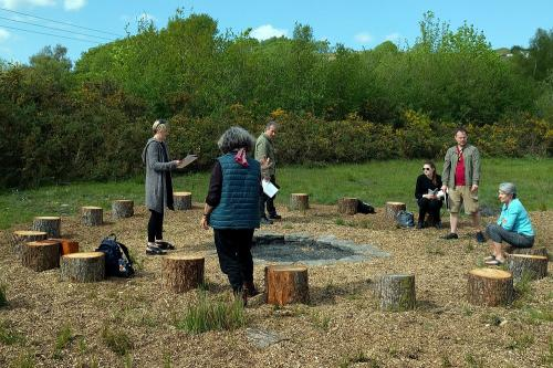 Afternoon Rehearsal at the Story Firepit, Ynysybwl, 14th May 2016