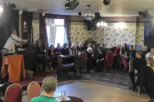 Jeff Japers at Village Voices - energy night. Ynysybwl Constitutional Club, 12th May 2016